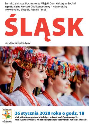 Plakat reklamujący koncert zespołu śląsk