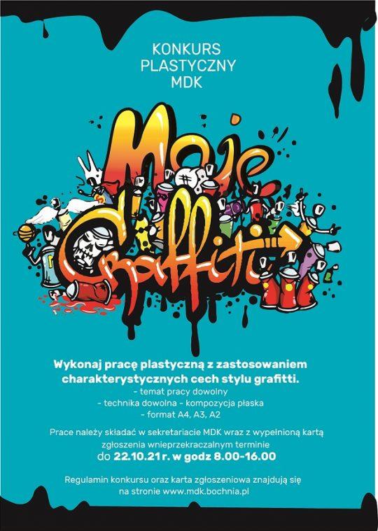 Plakat informujący o konkursie moje grafitti